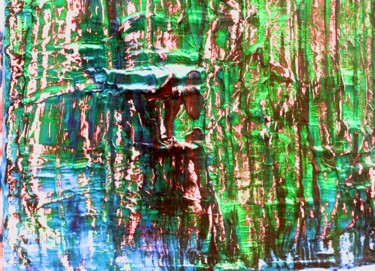 Art inspired by Nature: Mountain Lake. Wood work